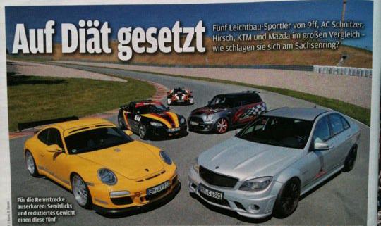 Hirsch Tracksport in der Autobild Sportscars